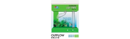 Glass filter lily pipes